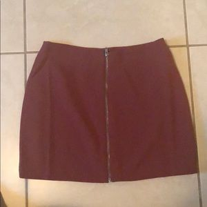 Never worn large skirt rust colored